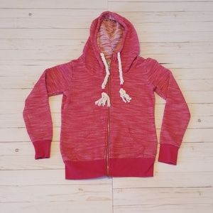 Maurices size small pink hooded zip up sweatshirt